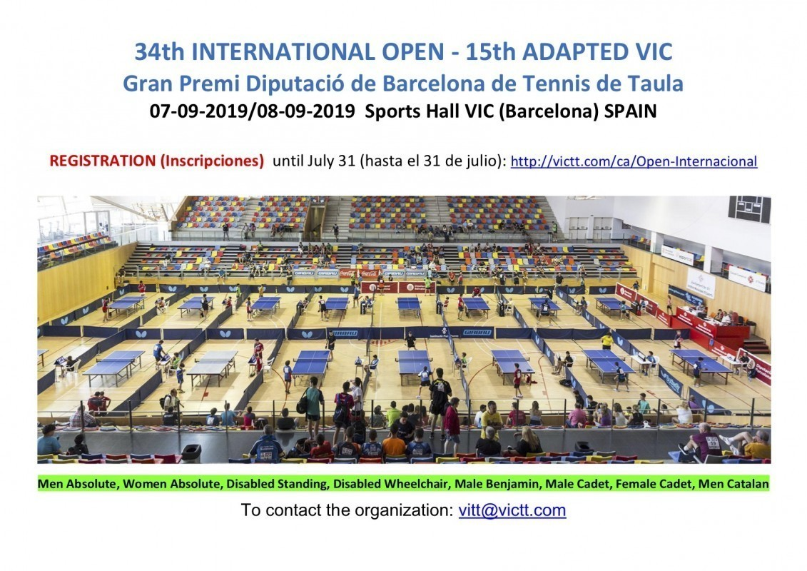 34Th International Open - 15th Adapted Vic