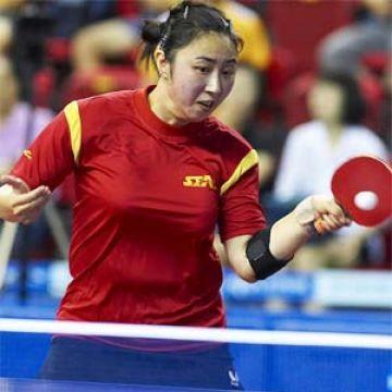 Yanfei Shen en el Open de Corea. (Foto: An Sung Ho - Web www.ittf.com)