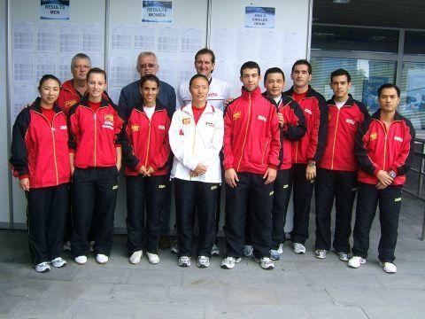 Delegación española en Ostrava