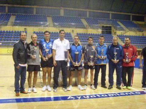 Entrega de premios presidida por el Sr. Concejal de Deportes del Ayuntamiento de Sta Lucía.