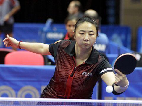 Yanfei Shen, durante su participación en el Campeonato de Europa