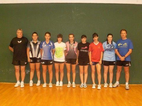 Concentración de la selección femenina en el C.A.R. de Sant Cugat