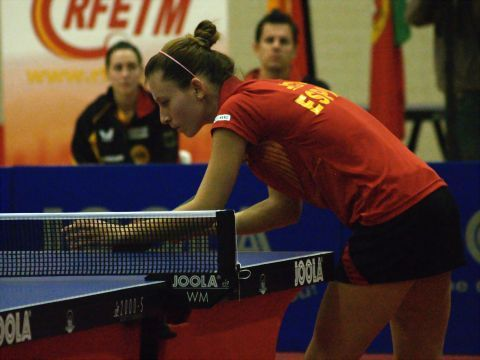 Galia Dvorak, en un encuentro con la selección nacional