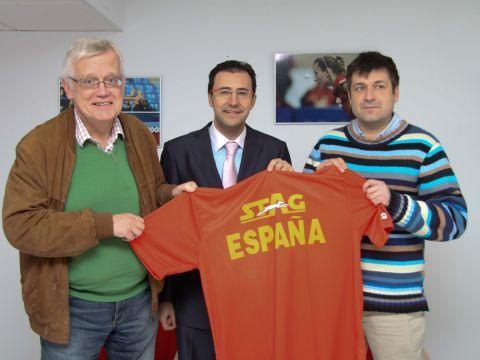 Steen Hansen, M.A. Machado y Linus Mernsten. (Foto: RFETM)