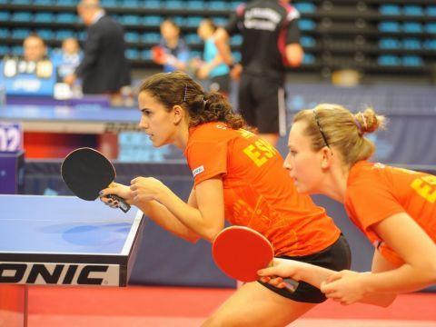 Sara Ramírez y Galia Dvorak, durante el Open Pro Tour de España