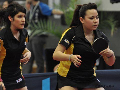 Patricia Fernández y Paula Bueno en el Open de Francia. (Foto: www.openfrancett.com)