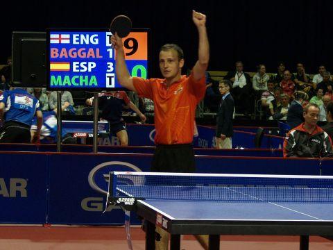 Carlos Machado celebra el último punto conseguido ante Baggaley.