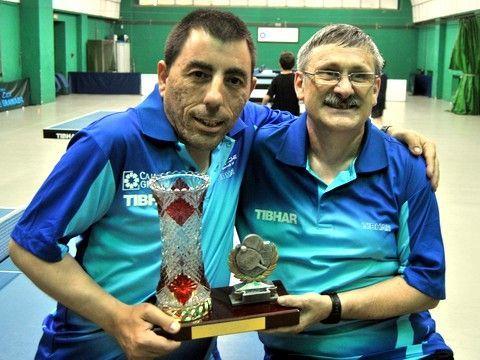 José Molinero y Francisco Alonso, intengrantes de la selección de Andalucía que finalizó segunda. (Foto: CTM CajaGranada)