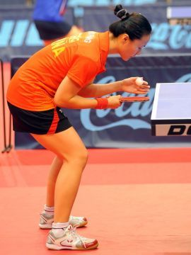 Zhu Fang en el Spanish Open Pro-Tour celebrado en Almería. (Foto: Pablo Rubio)