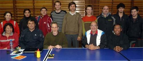 Foto de grupo del curso de organización de torneos.