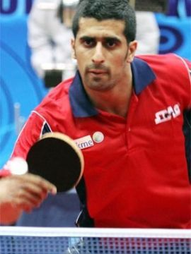 Inbrahem Al-Hasen el ganador en Dubai (Foto: Mohammed Al-Tayer en www.ittf.com)