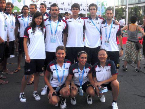 Jugadores y entrenadores españoles en la Universiada 2011