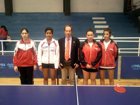 Imagen previa a la final femenina juvenil.