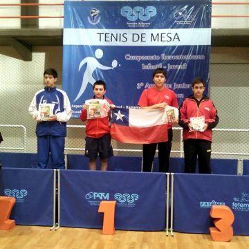 Iván Cuevas fue bronce en infantil masculino.