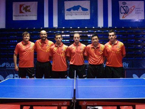 Equipo nacional masculino en el CETD de Priego de Córdoba.