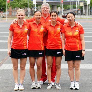 El equipo femenino en el pasado mundial de Rótterdam. (Foto: Juan Carlos Paramá)