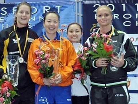 Irene Ivancan, LI Jiao, LI Qian y Margaryta Pesotska.