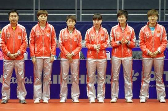 Equipo femenino de China. (Foto: www.ittf.com)
