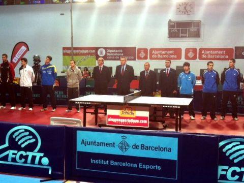 Imagen de la presentación de los jugadores.
