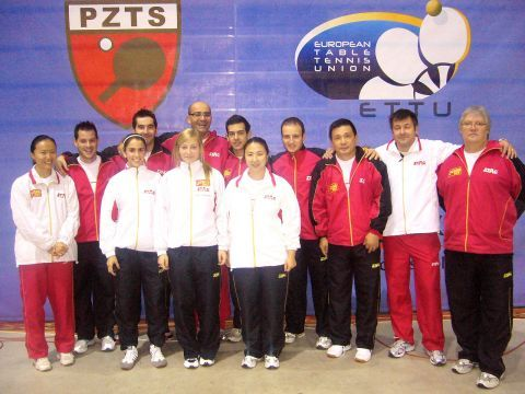 Equipos masculino y femenino en el último europeo de Polonia.