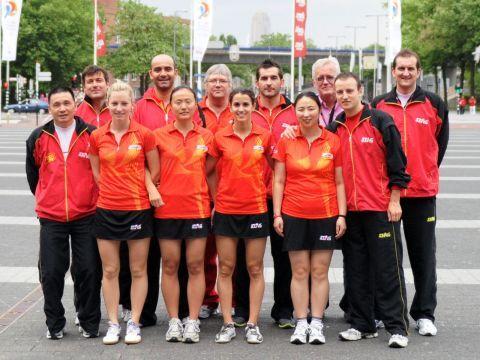 Equipos masculino y femenino en el último Mundial de Holanda. (Foto: Juan Carlos Paramá)