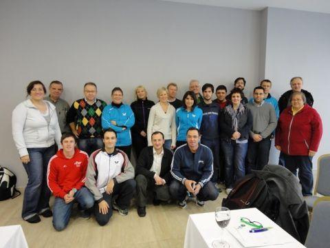 Asistentes al 4º Congreso de Entrenadores Europeos.