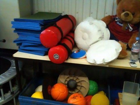 Por último muestro una foto del material que utilizan para el trabajo físico.