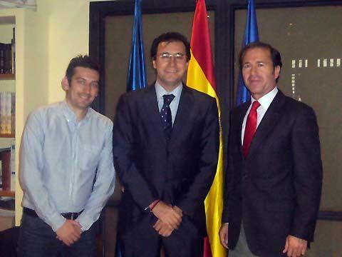 Jesús Sempere, Miguel Ángel Machado y Miguel Marín.