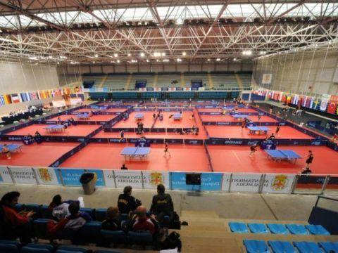 Aspecto del recinto del Palacio de Juegos del Mediterráneo la pasada edición. (Foto: Pablo Rubio)