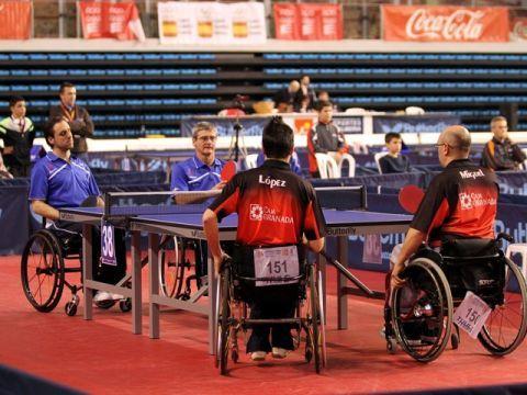 Un momento de la final de Equipos Silla de Personas con Discapacidad Física