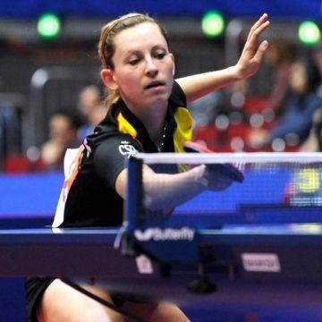 Galia Dvorak conseguía hoy el único punto de su equipo. (Foto: Mari Paz Cordo)