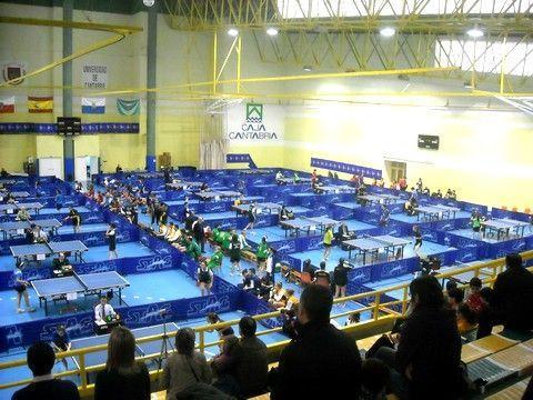 Aspecto del Pabellón de la Universidad de Cantabria donde se está celebrando la competición.