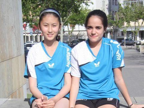 Sofía Xuan Zhang y Nora Escartín formaron el equipo que llegaba hasta cuartos de final.