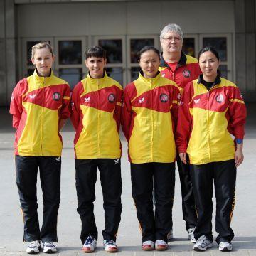 Equipo español femenino durante el pasado mundial de Alemania. (Foto: Mari Paz Cordo)