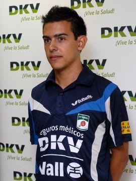 Marc Durán en la presentación del nuevo sponsor  Foto: Borges