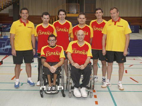 Equipo Paralímpico Español de Tenis de Mesa. (Foto: CPE)