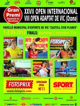 Cartel del XXVII Open Internacional de Vic de Tenis de Mesa