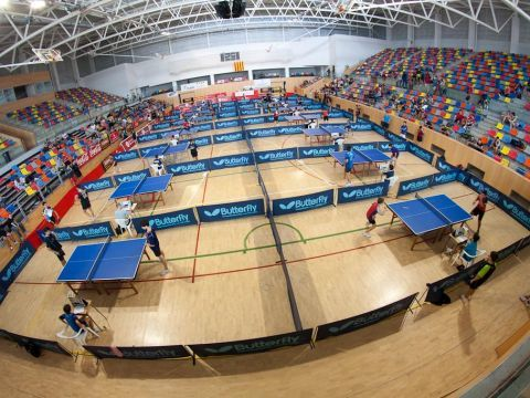 "Aspecto del Pabellón Municipal de Deportes ""Castell d´en Planes"". (Foto: Xavier Sanfeliu)"