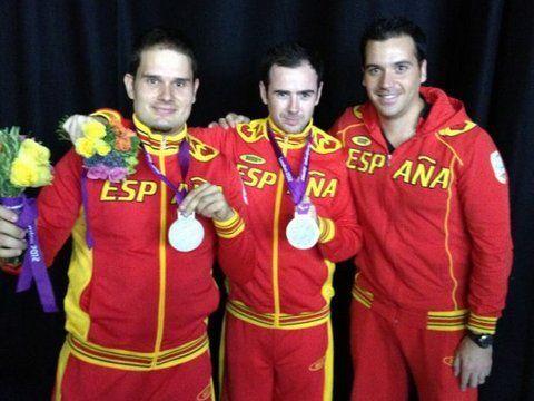 Jordi Morales, Álvaro Valera y el técnico Ramón Mampel
