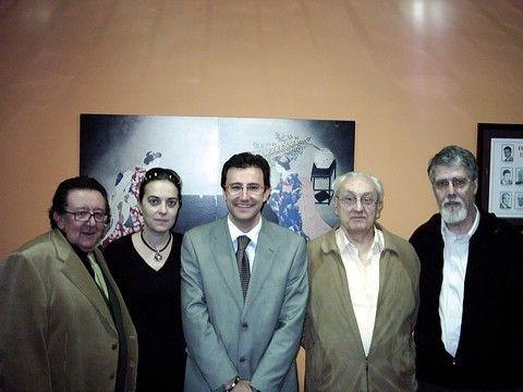 Miguel Ángel Machado con algunos miembros de la Federación Catalana.