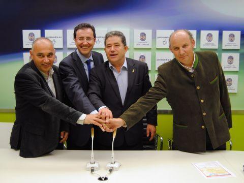 Agustín Fernández, Miguel Ángel Machado, Miguel Ángel Fernández y José Albores. (Foto: Pontevedraviva.com)