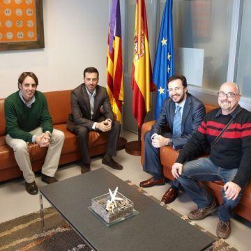 Un momento de la visita institucional al Govern de les Illes Balear