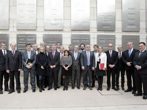 Foto del Comité Ejecutivo del COE elegido ayer. (Foto: COE)