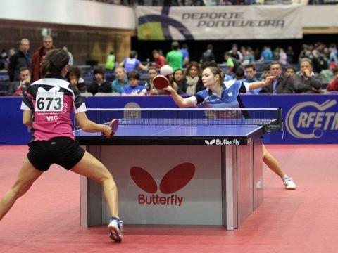 Sara Ramírez e Iulia NEcula en un de los puntos de la final