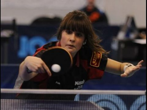 Paula Bueno integrante de la selección junior en Malta. (Foto: ITTF)