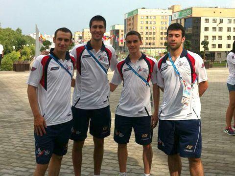 El equipo español en Kazán.