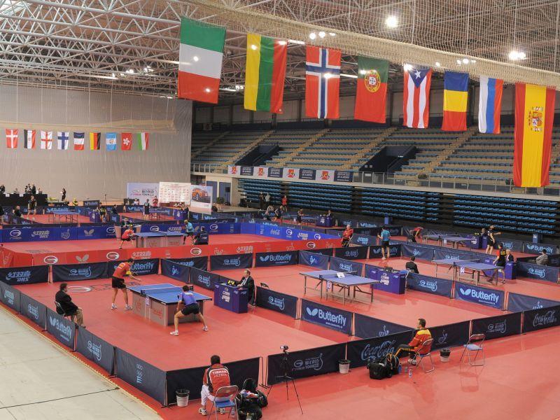 Aspecto del Palacio de los Juegos Mediterráneos de Almería durante la celebración de la pasada edición. (Foto: Pablo Rubio)