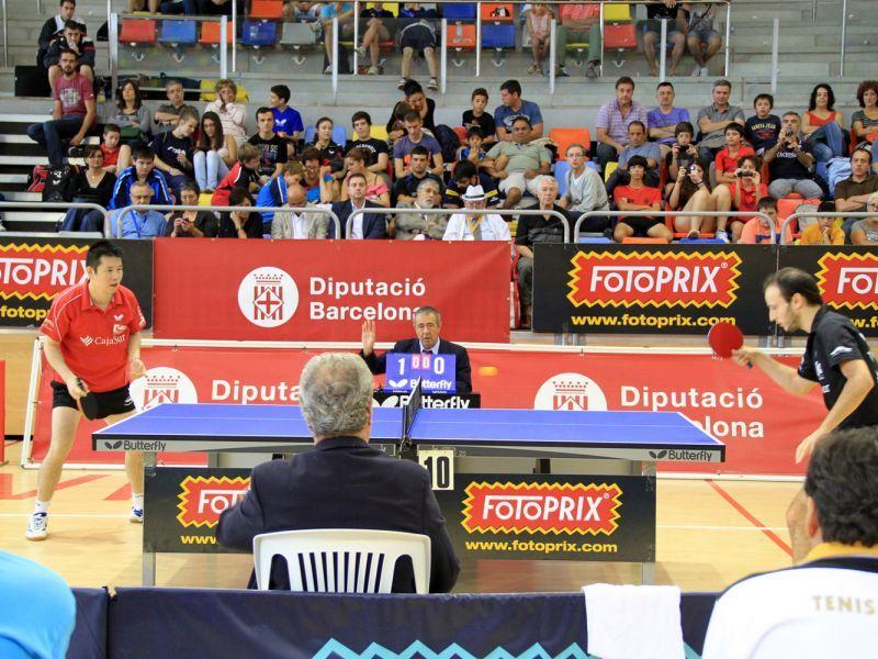 Carlos Machado y Shi Wei Dong disputando la final