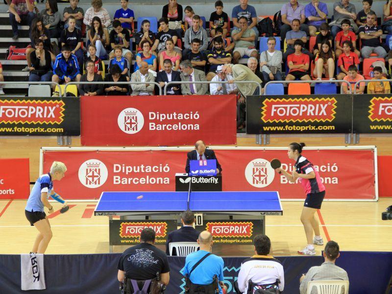 Final femenina del Open de Vic entre Wang Zhipei y Matilda Ekholm