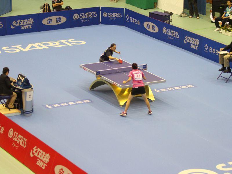 Aspecto del Kobe Central Gymnasium donde se está celebrando la competición. (Foto: ITTF)